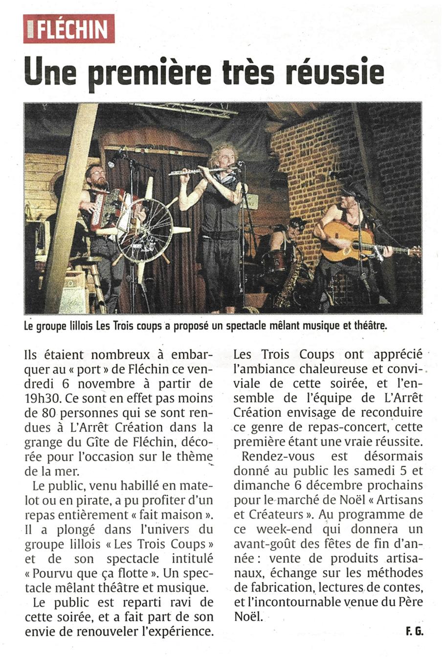 Les Trois Coups - Echo de la Lys - 12 nov 2015